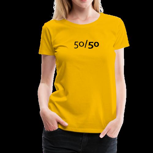 50/50 - T-Shirt - Diskriminierung, Mobbing, Altersarmut, Respekt, Toleranz
